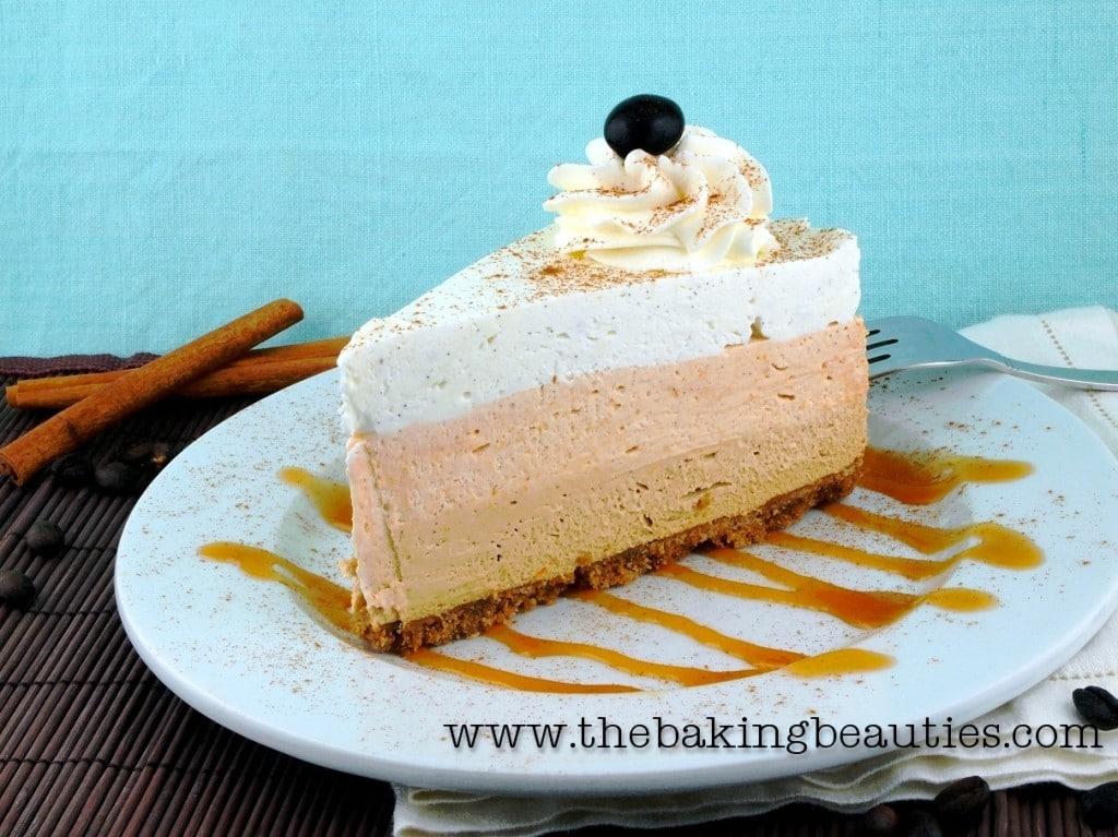 Gluten Free Pumpkin Latte Cheesecake recipe from The Baking Beauties