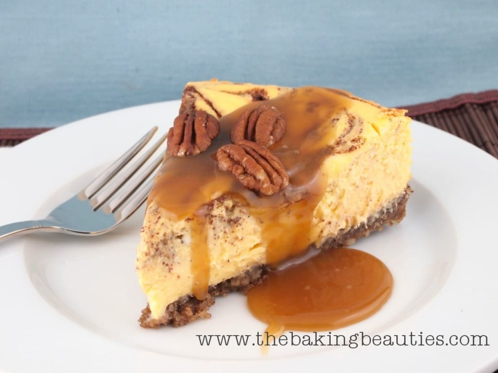 Gluten Free Cinnamon Bun Cheesecake from The Baking Beauties