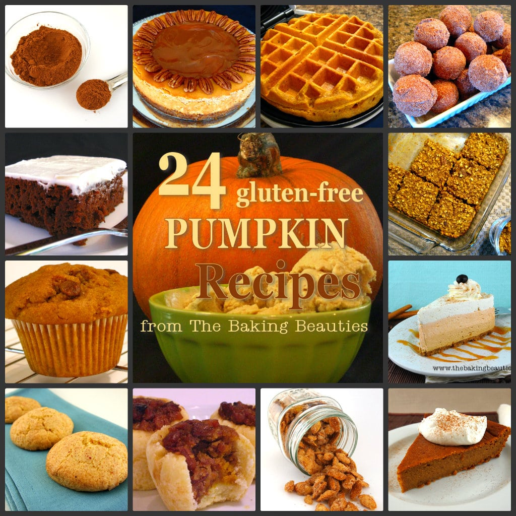 24 Gluten Free Pumpkin Recipes from The Baking Beauties