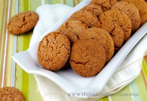 Crisp Gluten Free Gingersnap Cookies by The Baking Beauties