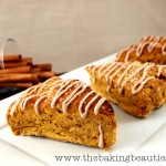 Gluten Free Pumpkin Scones with a Spiced Glaze