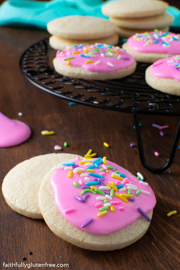 Cookies with pink icing
