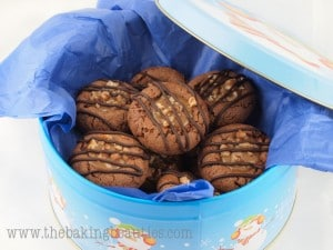Gluten-Free Turtle Cookies | The Baking Beauties