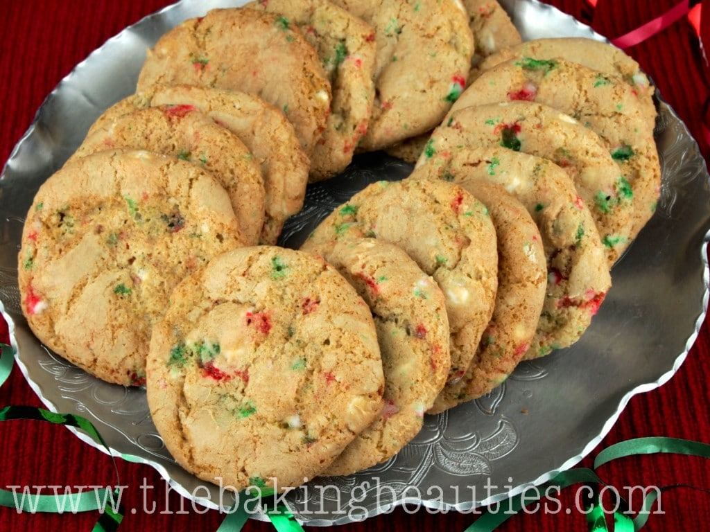 Gluten Free White Chocolate and Peppermint Cookies from The Baking Beauties