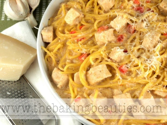 Gluten Free Kickin' Cajun Chicken Alfredo from The Baking Beauties
