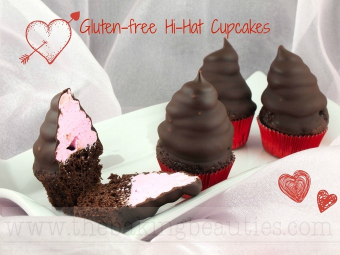 Gluten Free Mini Hi-Hat Cupcakes - The Baking Beauties