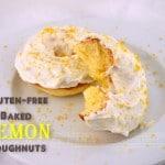 Gluten Free Baked Lemon Doughnuts