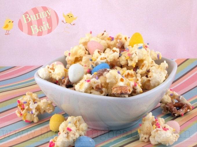 Gluten-free Bunny Bait ~ An Easy Easter Popcorn Recipe
