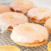 Gluten-free Baked Lemon Doughnuts