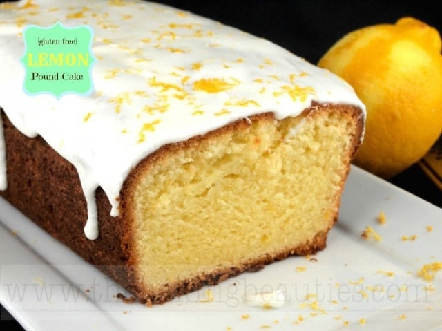 Gluten Free Lemon Pound Cake from The Baking Beauties