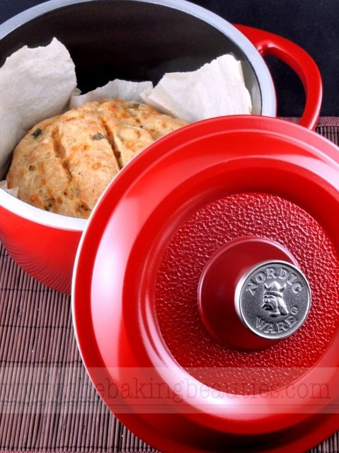 Gluten-Free Dutch Oven Cheddar and Beer Bread | The Baking Beauties