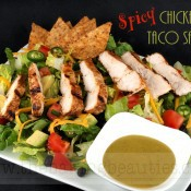 Gluten-free Spicy Chicken Taco Salad