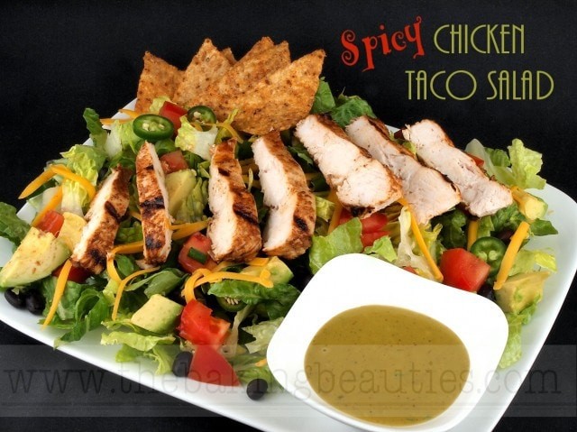 Gluten-Free Spicy Chicken Taco Salad - Faithfully Gluten Free