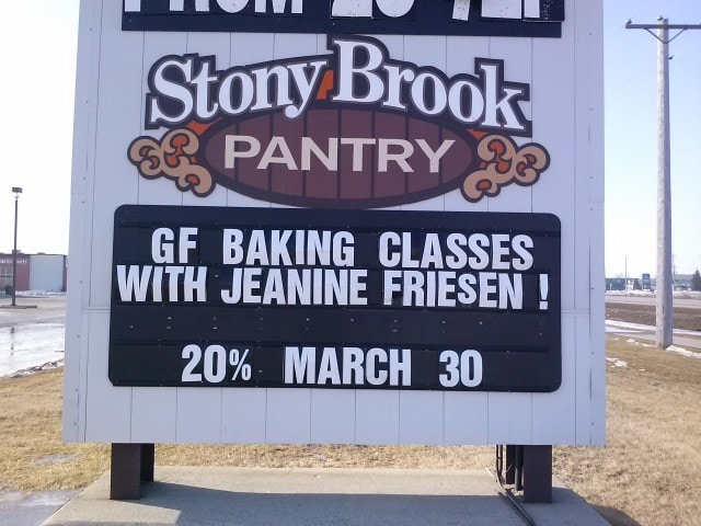 Gluten-Free Baking Class at Stony Brook Pantry in Steinbach, MB