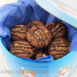 Gluten-free Turtle Cookies