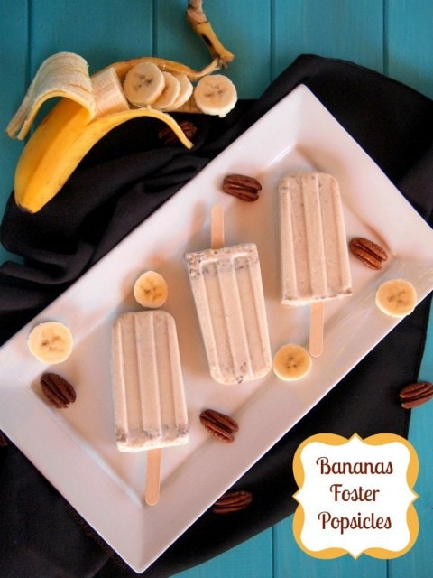 Bananas Foster Popsicles | The Baking Beauties