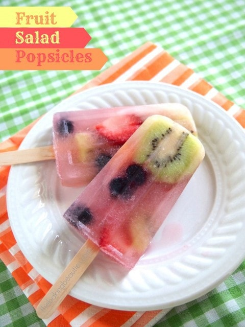 Fruit Salad Popsicles | The Baking Beauties