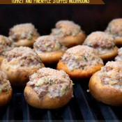 Grilled Turkey and Pineapple Stuffed Mushrooms | The Baking Beauties
