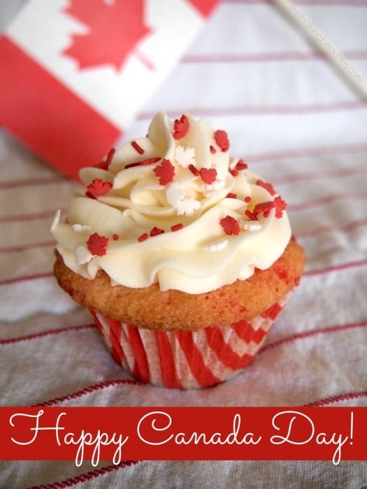Gluten Free Canada Day Confetti Cupcakes | The Baking Beauties