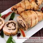 Get Your Grill On – Grilled Turkey Breast with CranApple Cremini Stuffing {Free E-book}