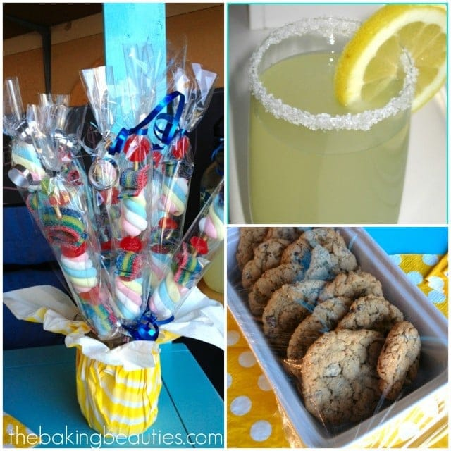 DIY Lemonade Stand with Candy Kabobs | The Baking Beauties