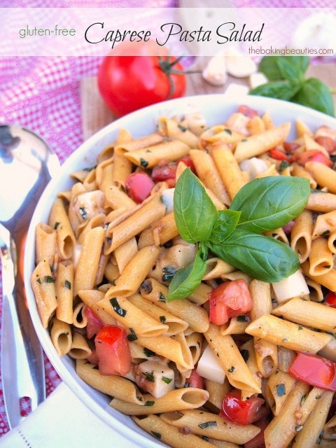 Gluten Free Caprese Pasta Salad | The Baking Beauties