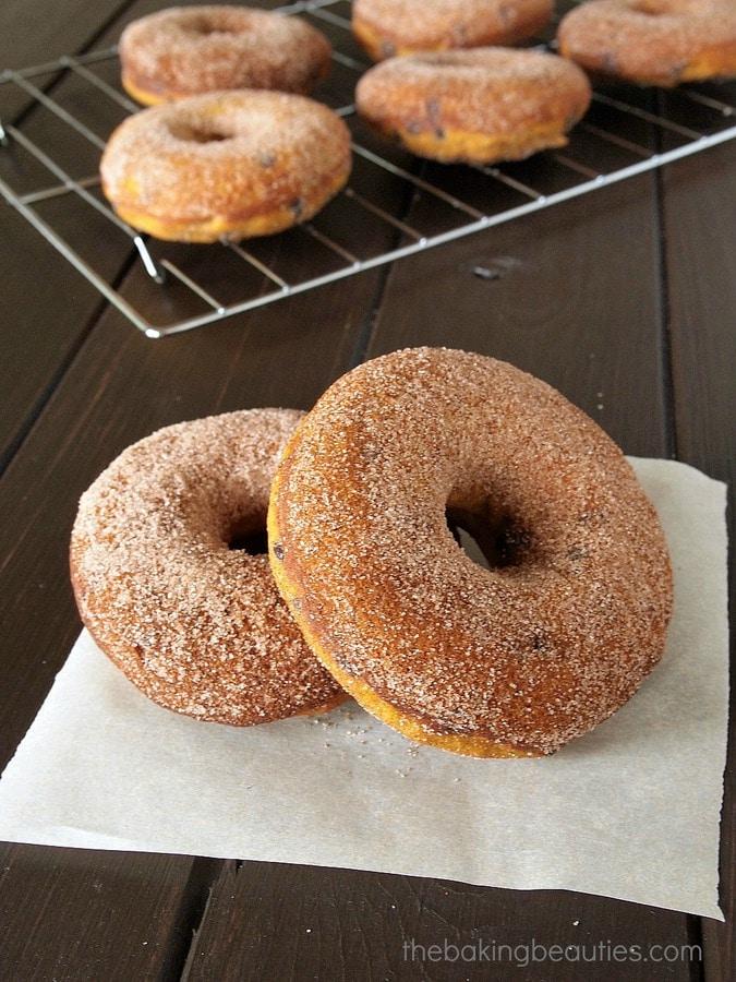 Gluten Free Baked Pumpkin Chocolate Chip Doughnuts - The Baking ...