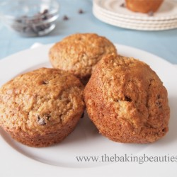 Moist Gluten Free Banana Chocolate Chip Muffins | The Baking Beauties