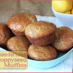 Gluten Free Lemon Poppy Seed Muffins | The Baking Beauties