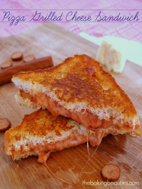 Gluten Free Pizza Grilled Cheese Sandwich | The Baking Beauties