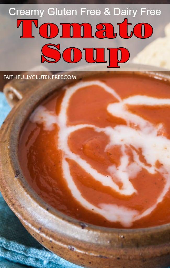 bowl of gluten free dairy free tomato soup