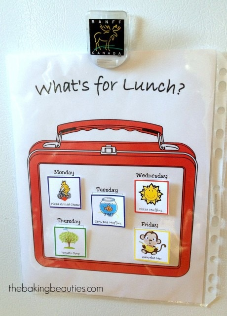 Free Printable Lunch Planner | The Baking Beauties