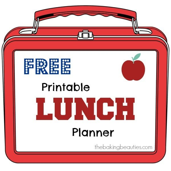 Free Printable Lunch Planner