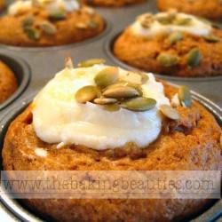 Gluten Free Pumpkin Cheesecake Muffins | The Baking Beauties
