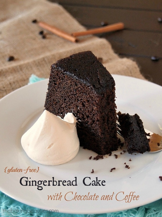 Gluten Free Gingerbread Cake with Coffee and Chocolate | The Baking Beauties