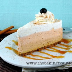 Gluten Free Pumpkin Latte Cheesecake | The Baking Beauties