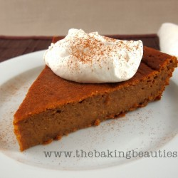 Gluten Free Crustless Pumpkin Pie | The Baking Beauties