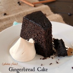 Gluten Free Gingerbread Cake with Chocolate and Coffee from The Baking Beauties