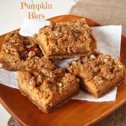 Gluten Free Gingerbread Pumpkin Bars from The Baking Beauties