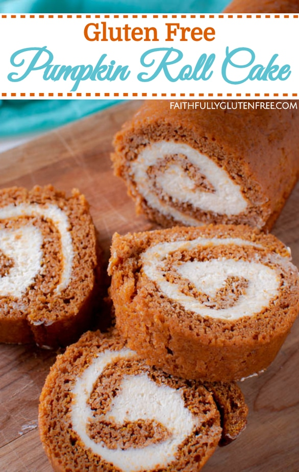 Easy Gluten free Pumpkin Roll Cake recipe
