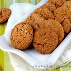 Crisp Gluten Free Gingersnap Cookies from The Baking Beauties