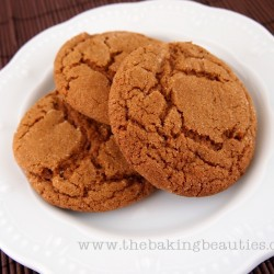 Big, Soft Gluten Free Ginger Cookies from The Baking Beauties
