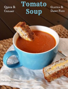Creamy Gluten and Dairy Free Tomato Soup | The Baking Beauties