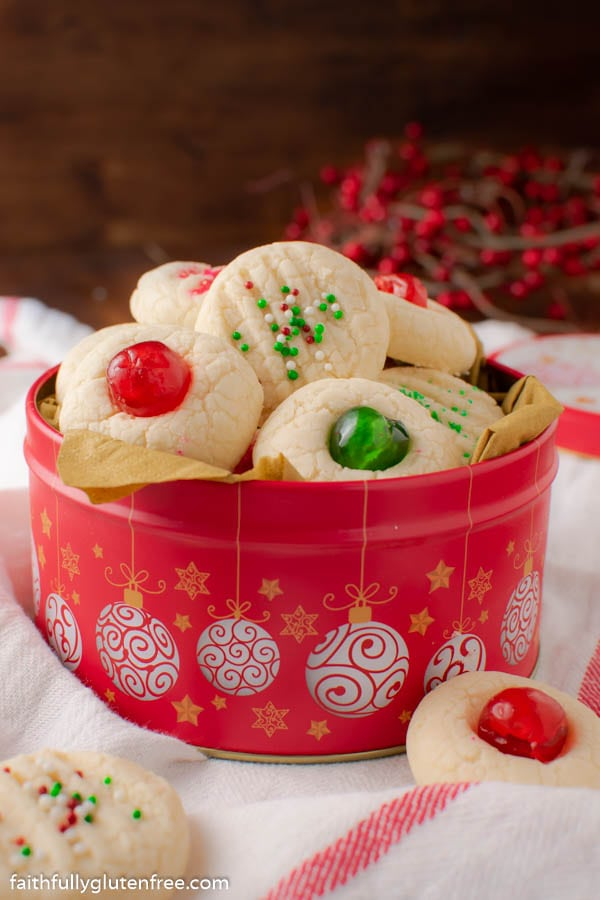 A cookie tin of whipped shortbread
