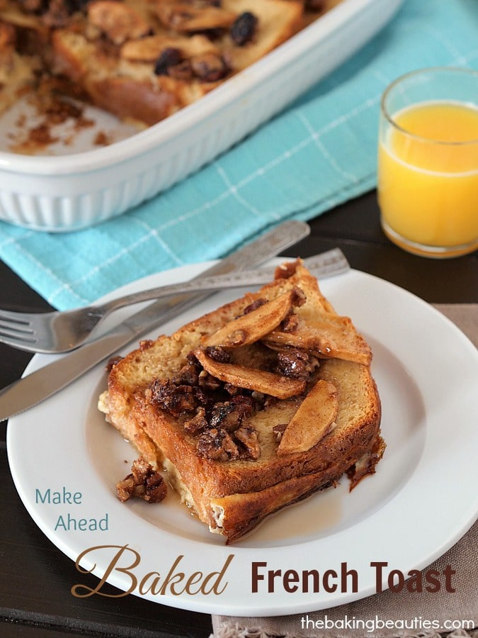 Make Ahead Baked French Toast