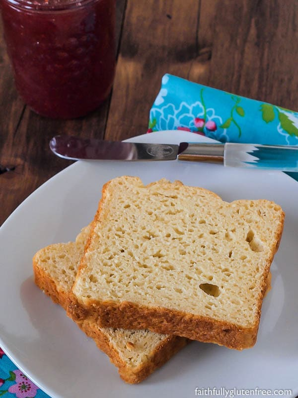 Gluten Free bread shouldn't be a brick. This gluten free Millet Sandwich Bread is light, soft and squishy, holds up to a sandwich quite well, and has a great flavour.
