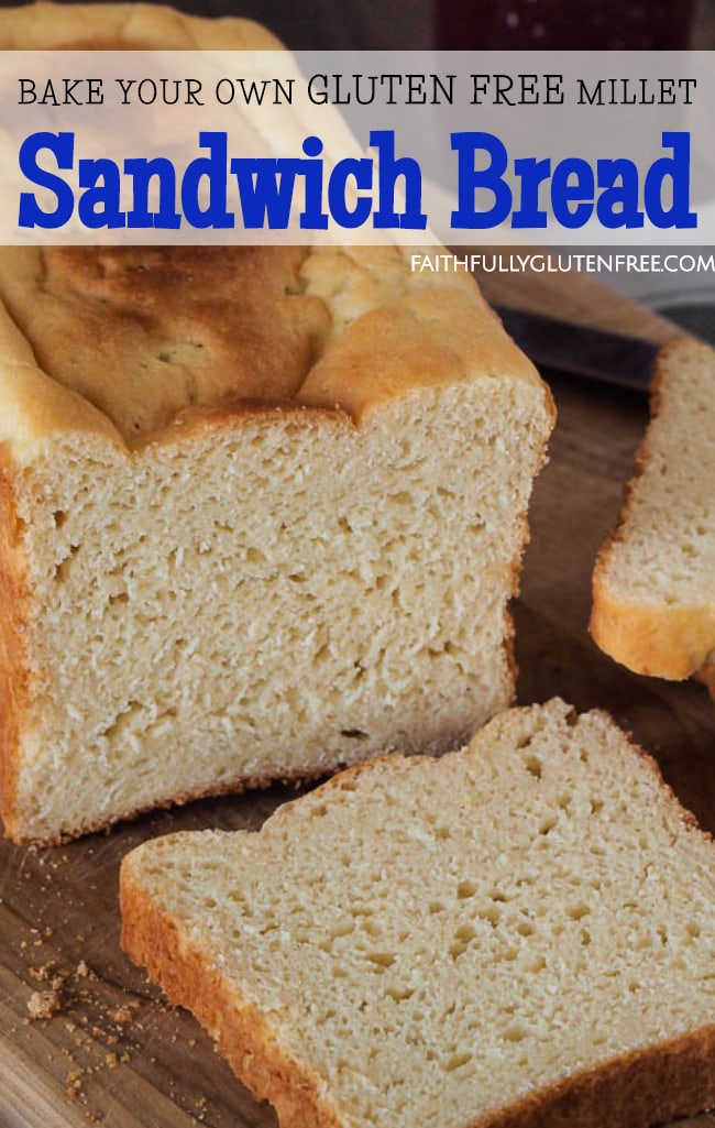 Slices of gluten free Millet Sandwich Bread