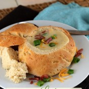 Slow Cooker Potato and Leek Soup from The Baking Beauties