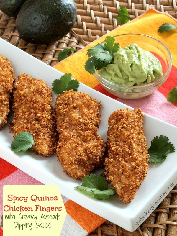 Spicy Quinoa-Crusted Chicken Fingers