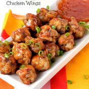 Sweet and Spicy Chicken Wings from The Baking Beauties